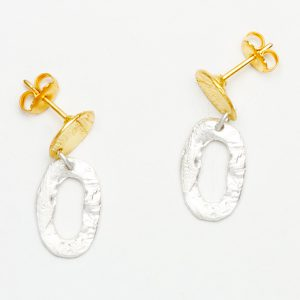 gold and silver plated earrings