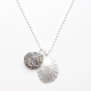 silver plated seashells