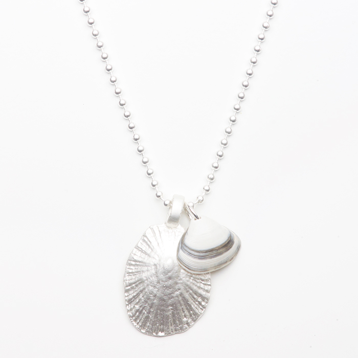 seashell necklace silver